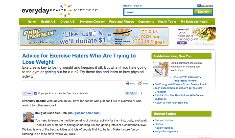 everydayhealth.com screenshot