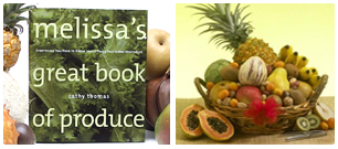 Melissa's Cookbook and Fruit Basket