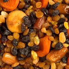 Dried apricots, dates, raisins