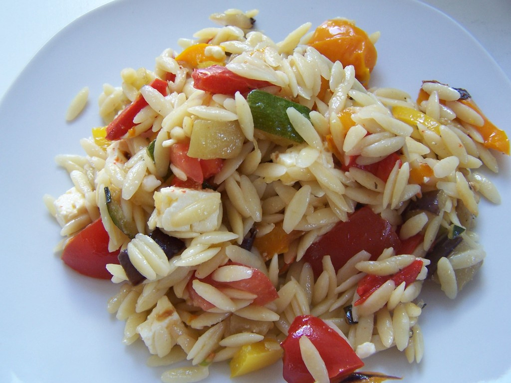 Grilled Veggie and Orzo Salad