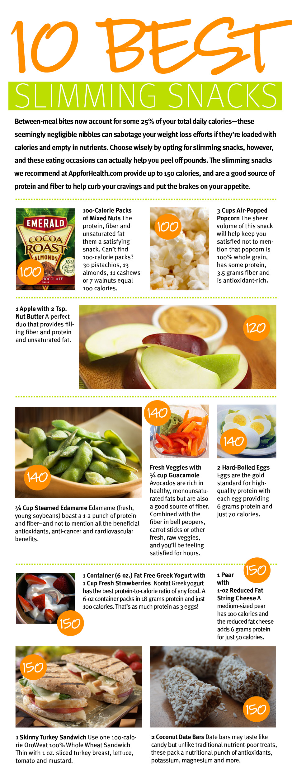 10 best slimming snacks