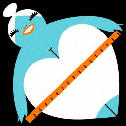 apple-shaped woman illustration
