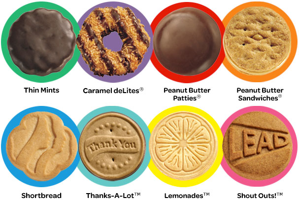 calories in girl scout cookies