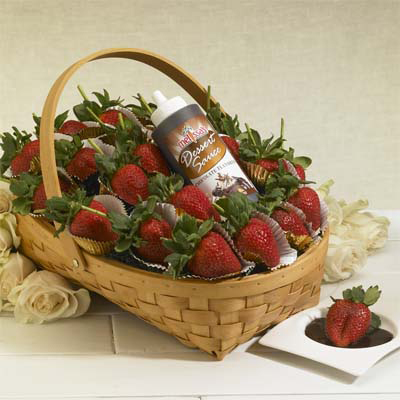 melissasstrawberriesandchocolategift basket