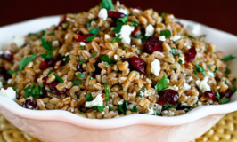 Farro, Cranberry and Goat Cheese Salad