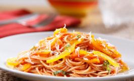 Angel Hair With Tomato and Basil Sauce